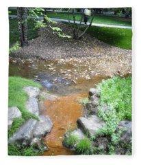 A Walk By A Stream Fleece Blanket