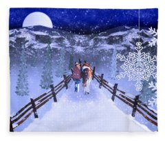 A Walk In The Snow 2 Fleece Blanket