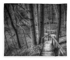 A Walk Through The Woods Fleece Blanket