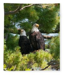 A Watchful Pair Fleece Blanket