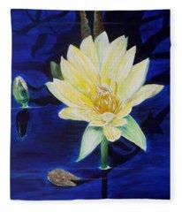 A Waterlily Fleece Blanket