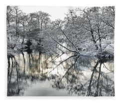 A Winter Scene Fleece Blanket