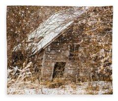 A Winter Shed Fleece Blanket