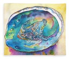 Abalone Shell Tropical Color Fleece Blanket