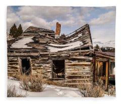 Abandoned Home Or Business Fleece Blanket