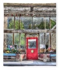 Abandoned Shop Fleece Blanket