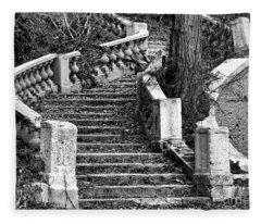 Abandoned Staircase Fleece Blanket