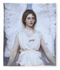 Abbott Handerson Thayer Angel 1886 Fleece Blanket