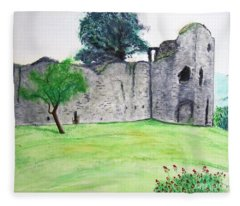 Abergavenny Castle Fleece Blanket