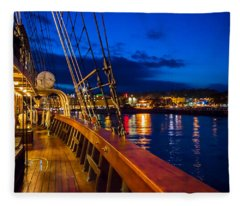 Aboard Peacemaker Fleece Blanket