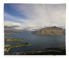 Above Queenstown #2 Fleece Blanket