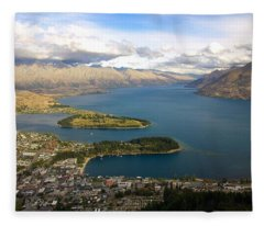 Above Queenstown Fleece Blanket