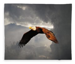 Above The Storm Fleece Blanket