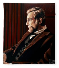 Abraham Lincoln By Daniel Day-lewis Fleece Blanket