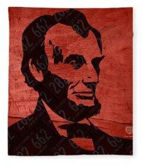 Abraham Lincoln License Plate Art Fleece Blanket