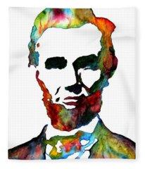 Abraham Lincoln Original Watercolor  Fleece Blanket