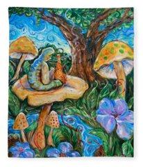 Absolem From Wonderland Fleece Blanket