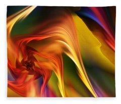 Abstract 031814 Fleece Blanket