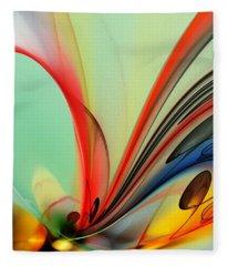 Abstract 040713 Fleece Blanket
