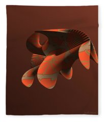 Abstract 351 Fleece Blanket