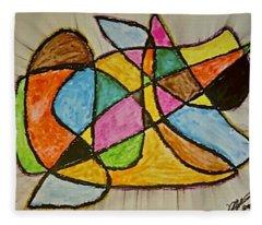 Abstract 89-002 Fleece Blanket