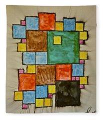 Abstract 89-003 Fleece Blanket