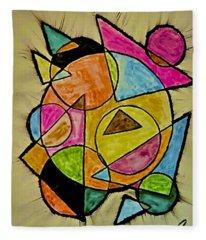 Abstract 89-004 Fleece Blanket