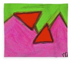 Abstract 92-002 Fleece Blanket