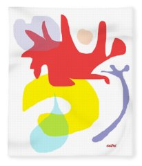 Abstract Ala Matisse 1 Fleece Blanket