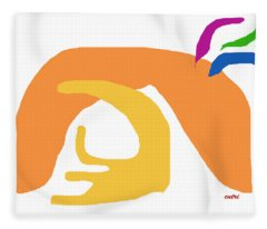 Abstract Ala Matisse 2 Fleece Blanket