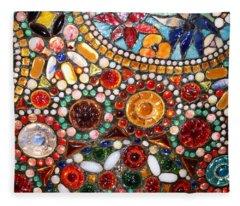 Abstract Beads Fleece Blanket