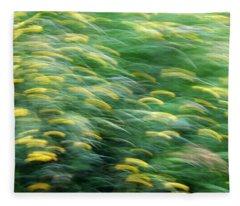Abstract Blurred Flower Meadow In Spring Fleece Blanket