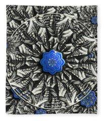 Abstract Butterfly Lotus Mandala Fleece Blanket