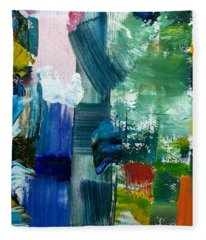 Abstract Color Relationships Lll Fleece Blanket