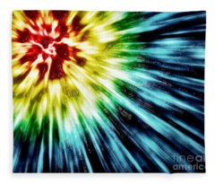 Abstract Dark Tie Dye Fleece Blanket
