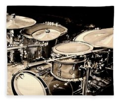 Abstract Drum Set Fleece Blanket