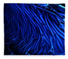 Abstract Experimental Chemiluminescent Photography Blue 1 Fleece Blanket