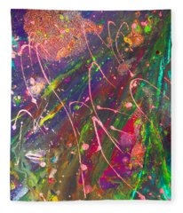 Abstract Fairy Night Lights Fleece Blanket