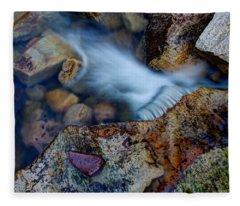 Abstract Falls Fleece Blanket