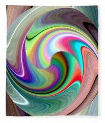 Abstract Fusion 241 Fleece Blanket