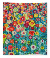 Abstract Garden Of Happiness Fleece Blanket