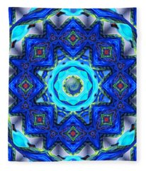 Abstract Glass Mandala Fleece Blanket