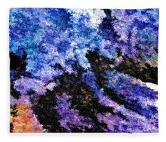 Abstract Granite Fleece Blanket