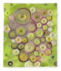 Abstract Grapes Fleece Blanket