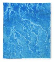 Abstract In Sea Blue Fleece Blanket
