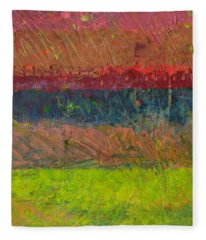 Abstract Landscape Series - Lake And Hills Fleece Blanket