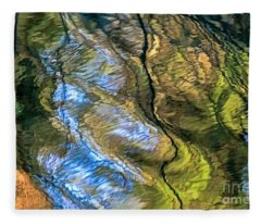 Abstract Of Nature Fleece Blanket