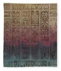 Abstract Ornamental Motif With Absratct Mood Fleece Blanket