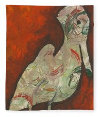 Abstract Pelican Fleece Blanket