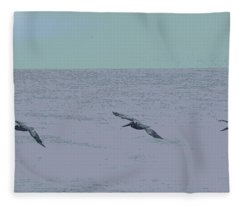 Abstract Pelican Trio Fleece Blanket